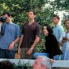 Still of Neve Campbell, Liev Schreiber, Jamie Kennedy and Jerry O'Connell in Scream 2