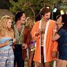 Still of Will Ferrell, Paul Rudd and Renee Weldon in Anchorman: The Legend of Ron Burgundy