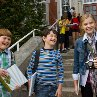 Still of Chloë Grace Moretz, Zachary Gordon and Robert Capron in Diary of a Wimpy Kid