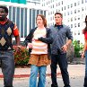 Still of Crista Flanagan, Gary 'G. Thang' Johnson, Matt Lanter and Kim Kardashian in Disaster Movie