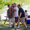Still of Adam Sandler, Rob Schneider, Kevin James, Jake Goldberg and Cameron Boyce in Grown Ups