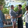 Still of Jenna Elfman, Mila Kunis, Justin Timberlake and Richard Jenkins in Friends with Benefits