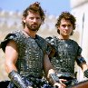 Still of Eric Bana and Orlando Bloom in Troy