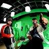 Still of Antonio Banderas and Robert Rodriguez in Spy Kids 3-D: Game Over