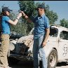 Still of Michael Keaton and Lindsay Lohan in Herbie Fully Loaded