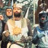 Still of John Cleese, Graham Chapman, Eric Idle, Terry Jones and Michael Palin in Monty Python and the Holy Grail