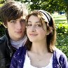 Still of Aaron Johnson and Georgia Groome in Angus, Thongs and Perfect Snogging